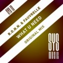 Ron Carroll, Fauvrelle, R.O.N.N. - What U Need (Original Mix)